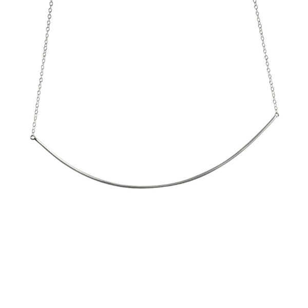 """Darling"" Sterling Silver Collar Bar Pendant Necklace"