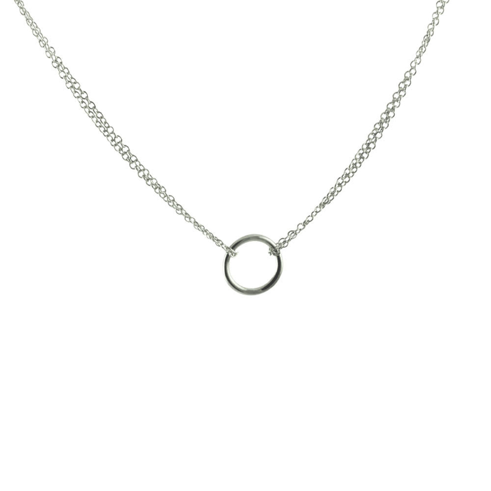 """Everlasting"" Sterling Circle Pendant Necklace"