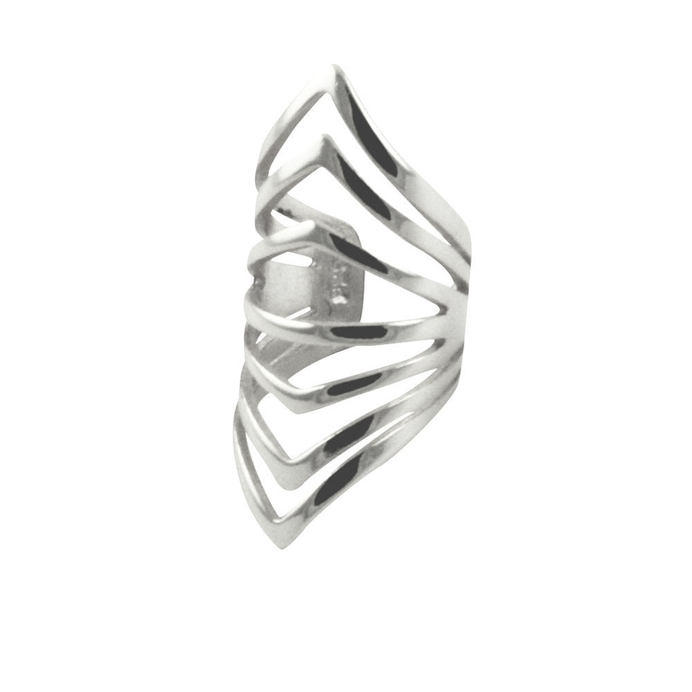 """Ribby ""Sterling Silver Ear Cuff"