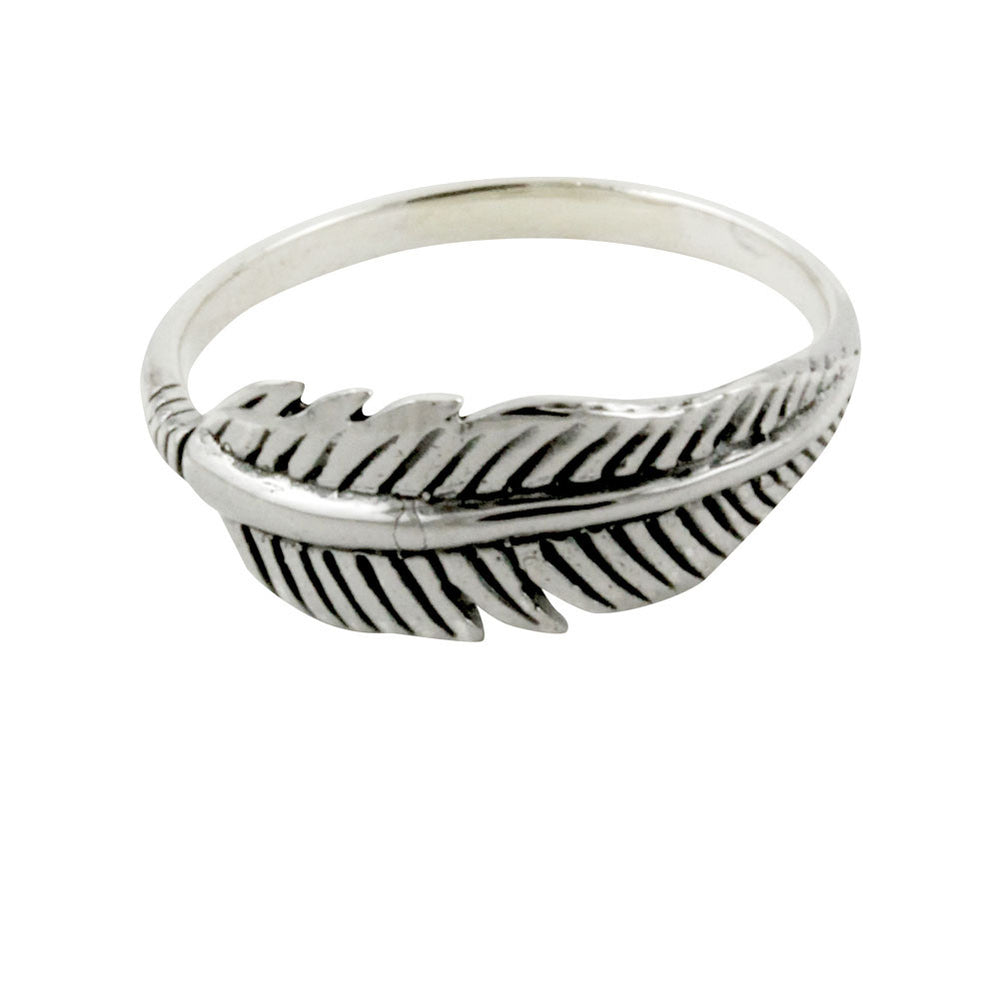 """Plume"" Sterling Silver Feather Ring"