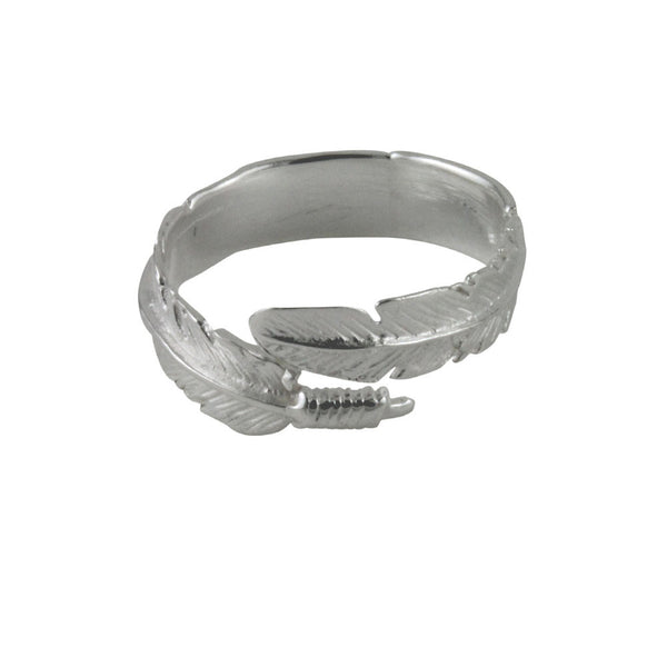 Sterling Silver Feather Ring Wrap Around