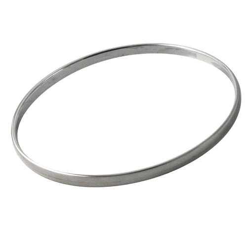 Slim Flat Sterling Silver Bangle Bracelet