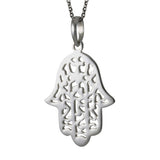 Sterling Silver Hamsa Pendant Necklace