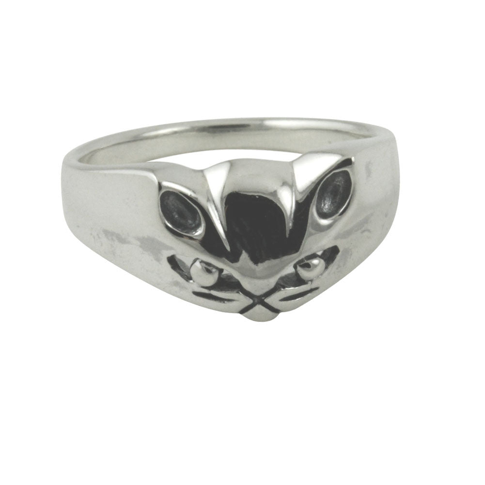 """Meow"" Sterling Silver Kitty Cat Ring"