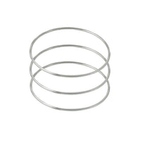 Sterling Silver Skinny Bangle Bracelet Set of 3