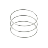 Slim Sterling Silver Bangle Bracelet Set of 3