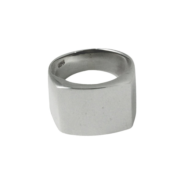 Sterling Silver Square Signet Ring Unisex