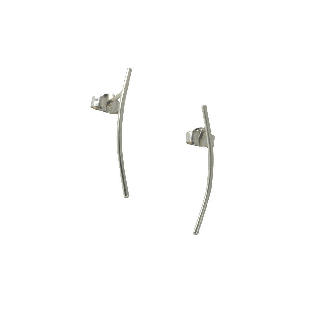 """Twigs"" Sterling SIlver Bar Stick Earrings or Pin Climber"