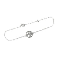 Sterling Silver Tree of Life Bracelet 7 inch