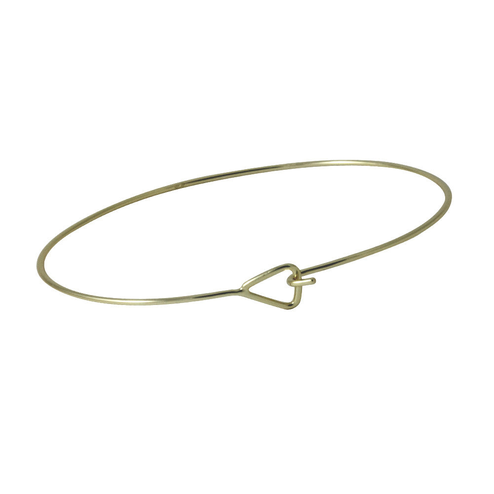 Gold-Dipped Triangle Thin Bangle Bracelet Slim