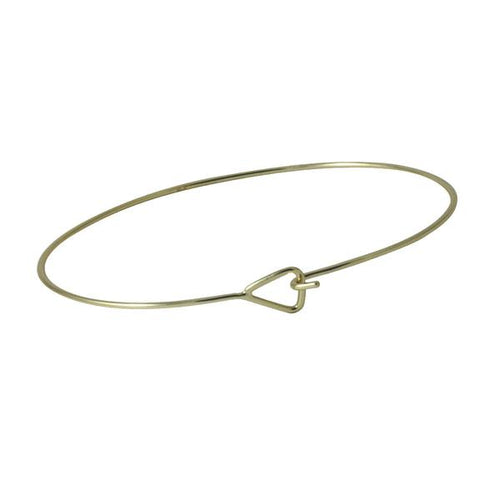 Sterling Silver Triangle Latch Thin Bangle Bracelet Slim