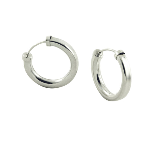 apop thick silver hoops