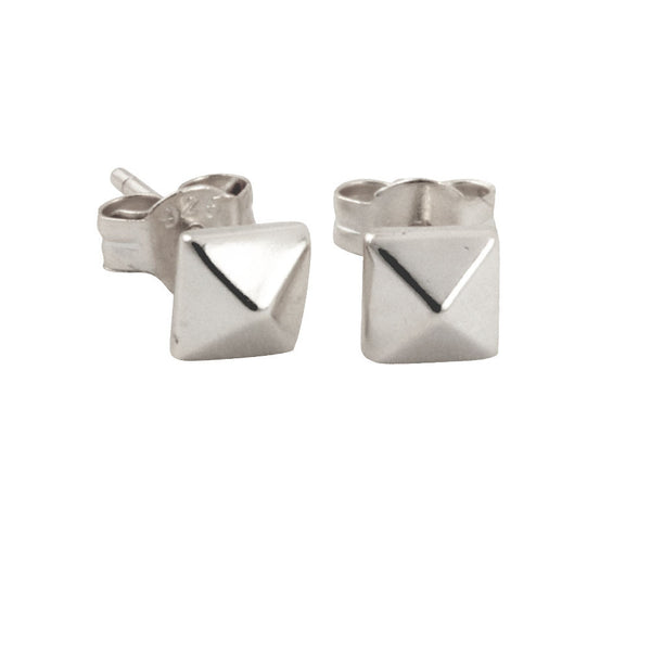 """Tiny"" Sterling Silver Pyramid Stud Earrings Mini"