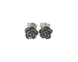 Sterling Silver Mini Rose Stud Earrings Flower
