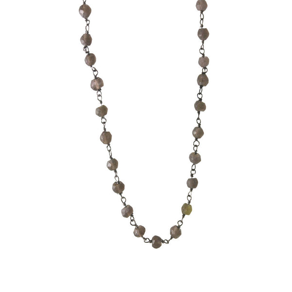 Mini Smoky Topaz Layering Necklace