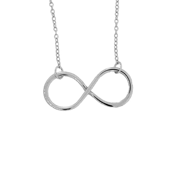 Sterling Silver Infinity Necklace 1 inch Charm