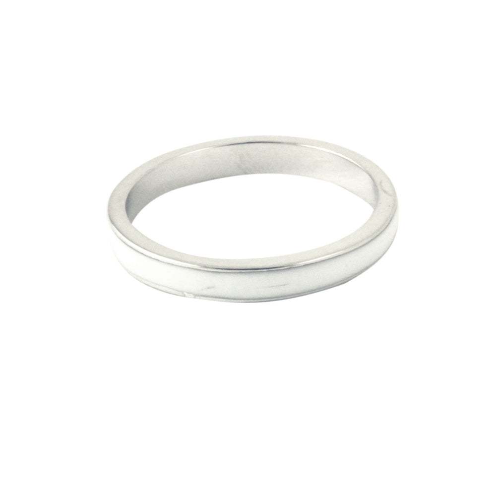 .925 Sterling Silver Enamel Hammered /& Polished Peace Ring