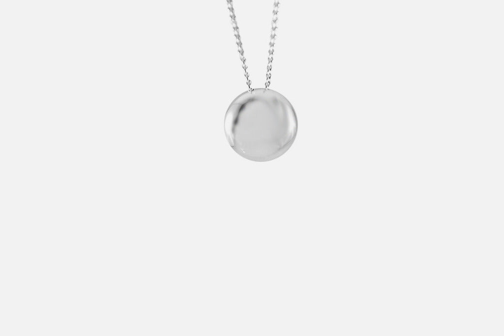 APOP EXCLUSIVE: Sterling Silver Button Slide Necklace
