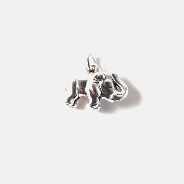 """Lucky Charm"" Sterling Silver Elephant Charm Pendant"
