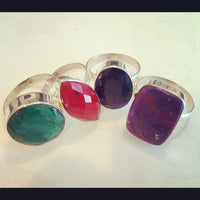 One of a Kind - Sterling Silver Genuine Gemstone Ring