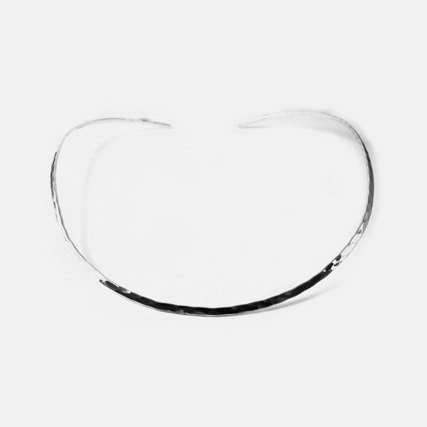 "Sterling Silver ""Hammered"" Thin Collar Necklace"