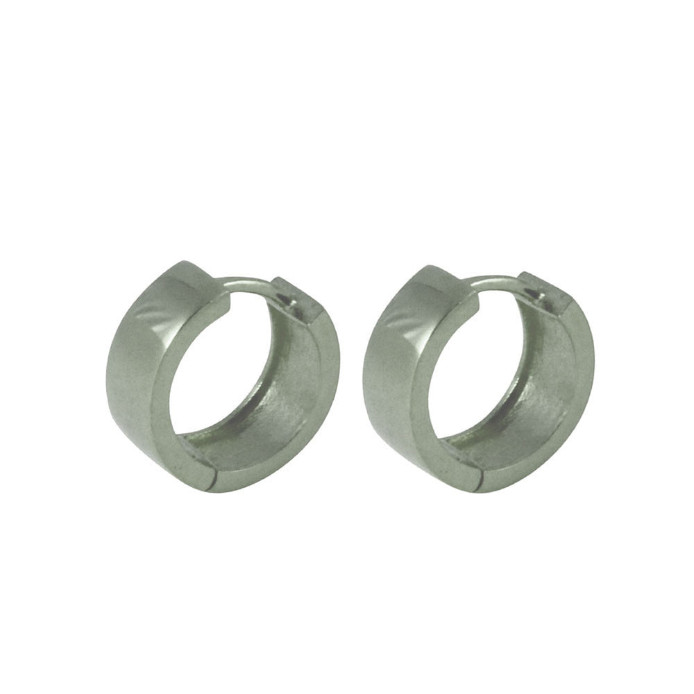 "Sterling Silver Everyday ""Huggie"" Mini Hoop Earrings"