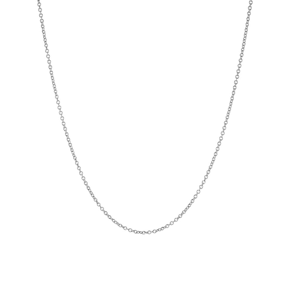 Simple Sterling Silver Rolo Chain Necklace 14 inch - 20 inch