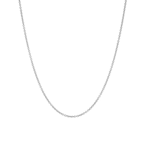 Simple Sterling Silver Link Chain Necklace