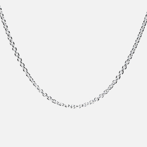 Sterling Silver Simple Link Long Chain Necklace 24 inch & 30 inch