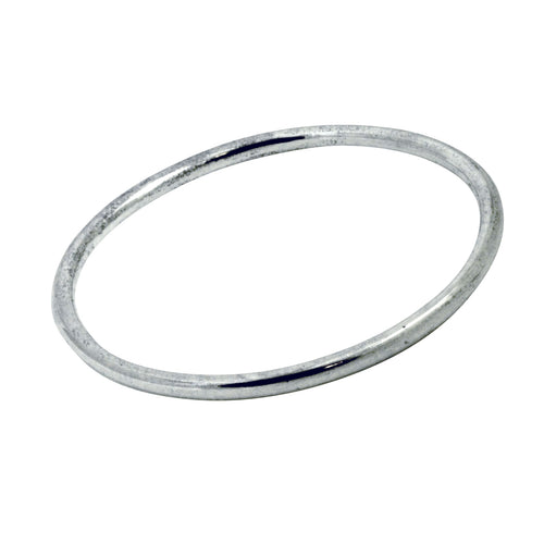 Modern Everyday Sterling Silver Bangle Bracelet