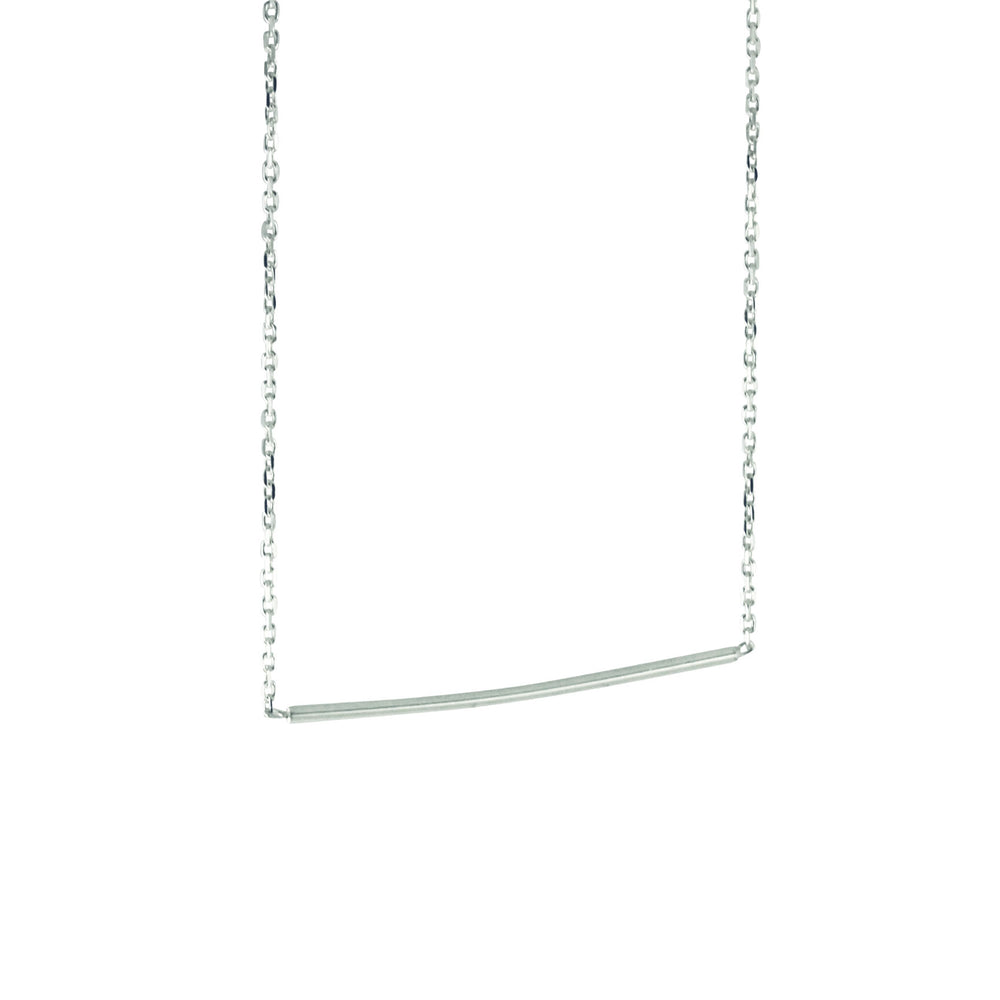 Sterling Thin Bar Necklace