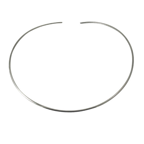 Sterling Silver Thin Cuff Choker Collar Necklace