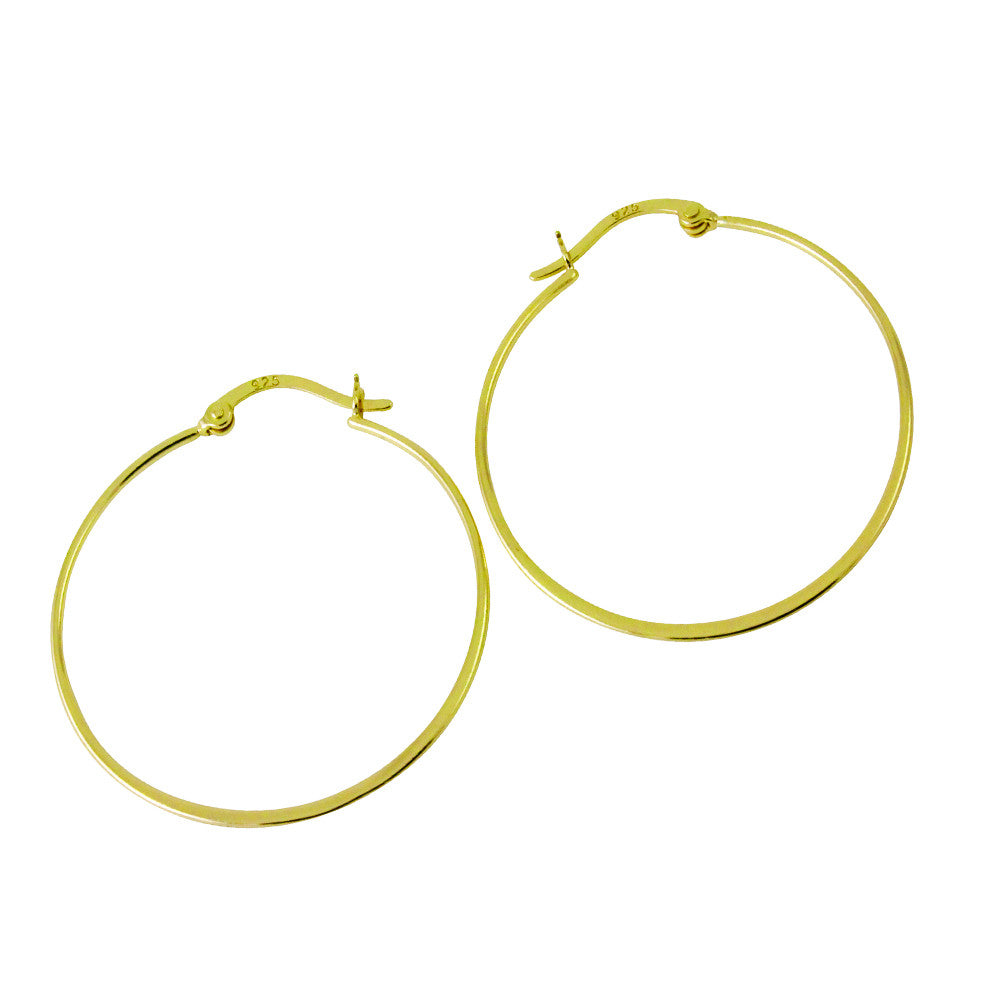 Gold-Dipped Whisper Thin Hoop Earrings