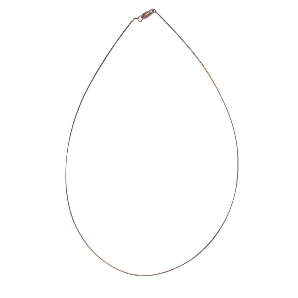 """Rosy Omega"" Rosy Thin Omega Chain Necklace"