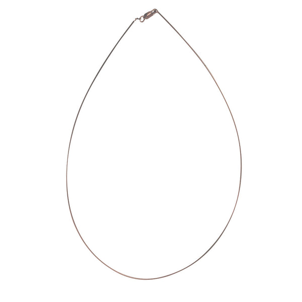 """Rosy Omega"" Rose Gold Vermeil Thin Omega Chain Necklace"