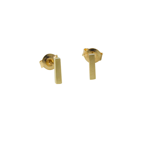 "Gold-Dipped ""Tiny"" Bar Stud Earrings"