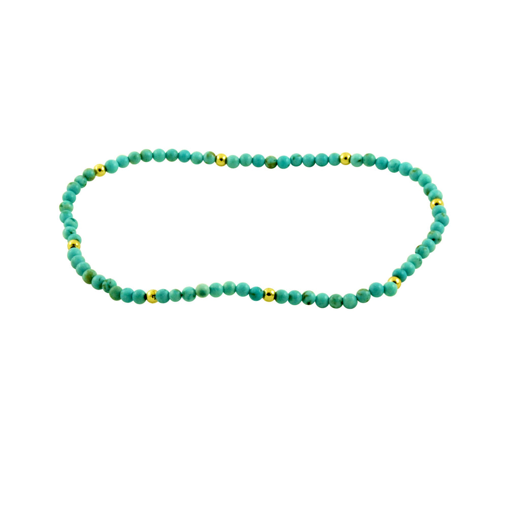 Turquoise Bead Strand Bracelet with Accent