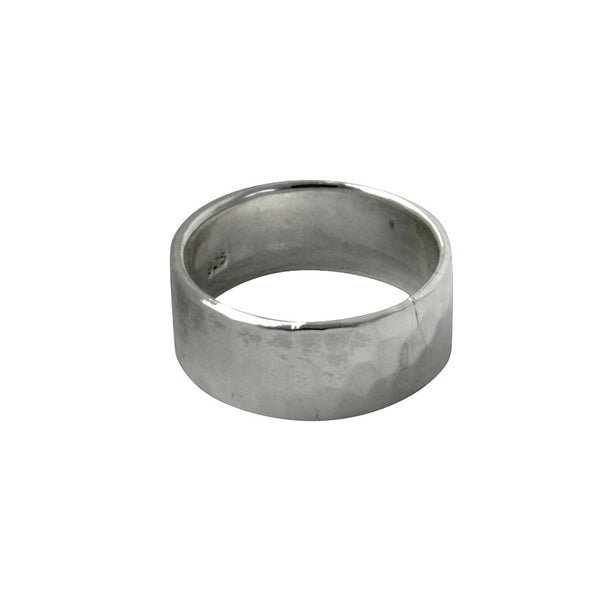 """Hammered"" Sterling Silver Wide Band Ring"