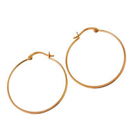 "Sterling Silver ""Whisper"" Thin Hoop Earrings"