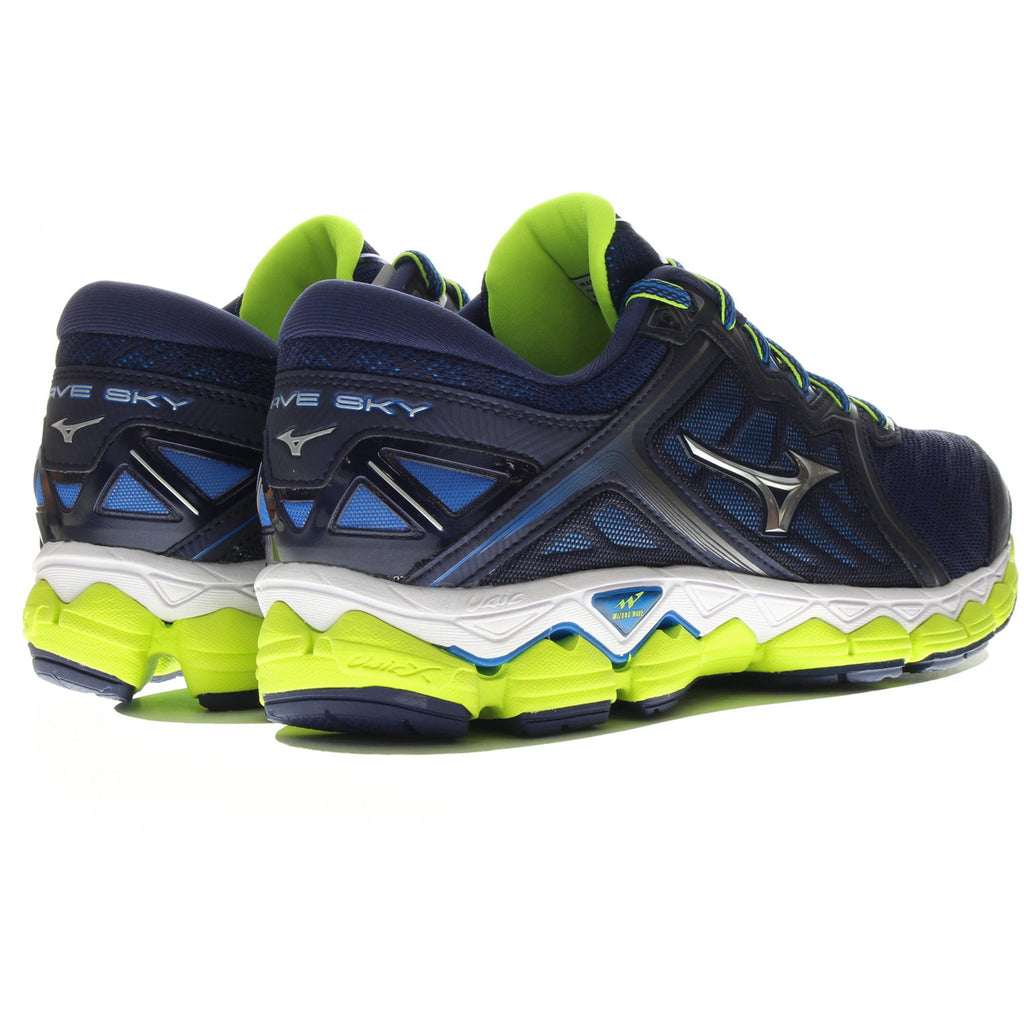 New Men's Mizuno Running shoes Wave Sky Black / Royal - brand-new-original Shoes & Caps