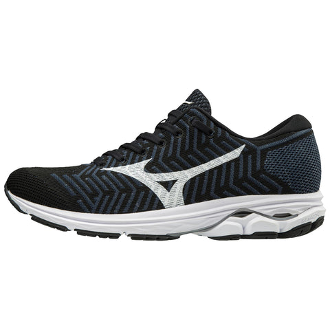 New Men's Mizuno Running shoes Wave KNIT R2 Black / White - brand-new-original Shoes & Caps