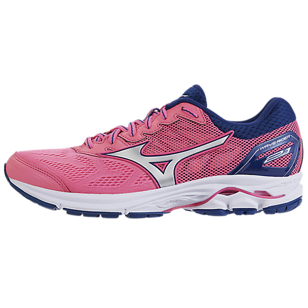 New Women's Running shoes Mizuno Wave Rider 21 Pink / Silver - brand-new-original Shoes & Caps
