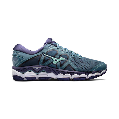 New Women's Running shoes Mizuno Wave Sky 2 Blue Mirage / Purple - brand-new-original Shoes & Caps