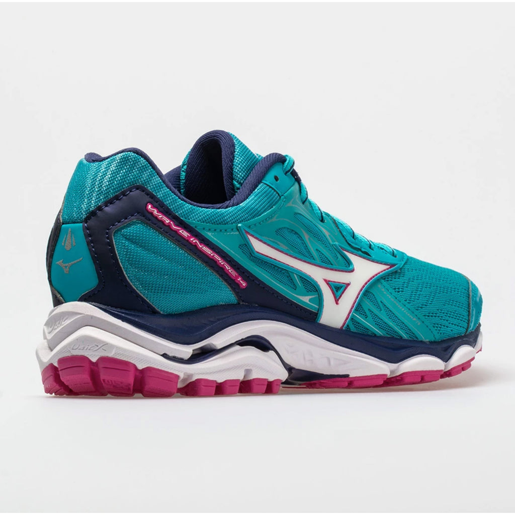 New Women's Running shoes Mizuno Wave Inspire 14 Turquoise / Pink - brand-new-original Shoes & Caps