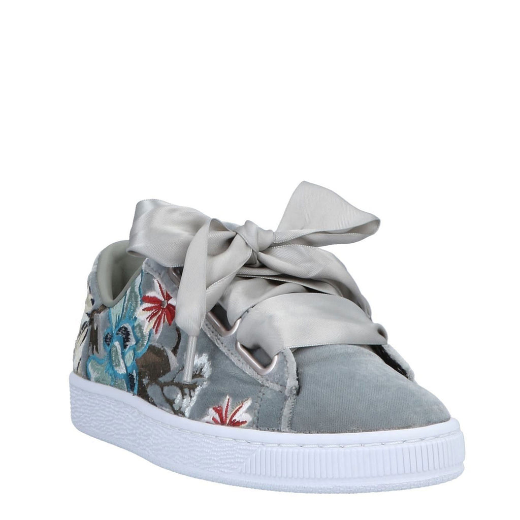 New Women's Puma Shoes Basket Heart Hyper Emb Grey - brand-new-original Shoes & Caps