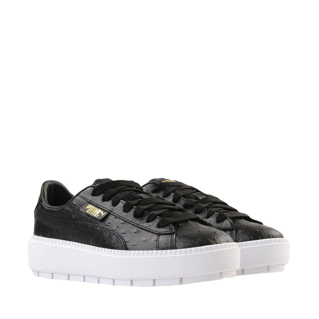 New Women's Puma Shoes Sneakers Platform Trace Ostrich Black - brand-new-original Shoes & Caps