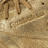 New Women's Classic Reebok Shoes CL Lather Shimmer Gold - brand-new-original Shoes & Caps