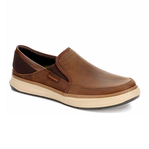 New Men's Loafer Moc Skechers Moreno Relton Memory Foam Brown boat shoes - brand-new-original Shoes & Caps
