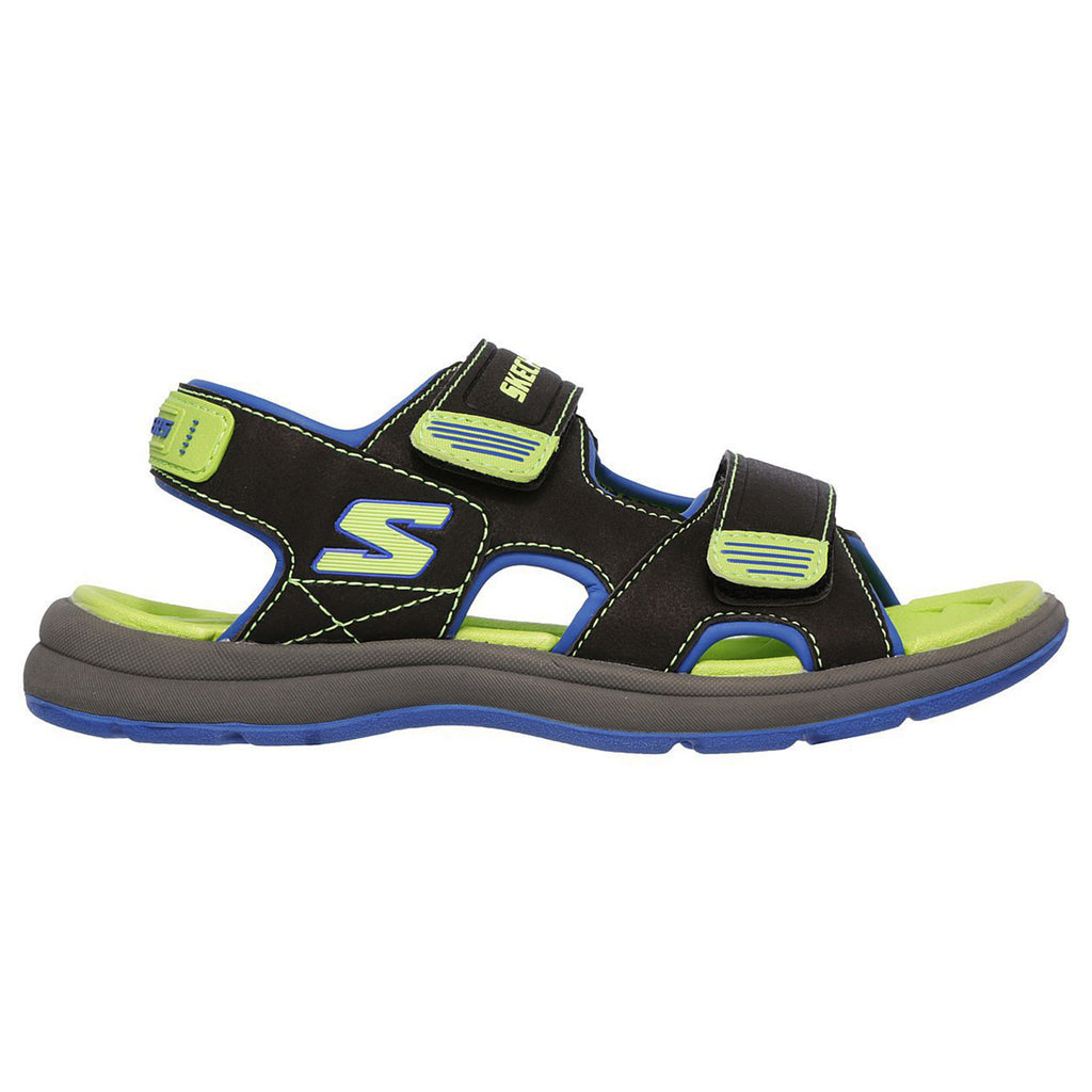 New Kid's Sandals Skechers Sun Spurt Black Volt - brand-new-original Shoes & Caps