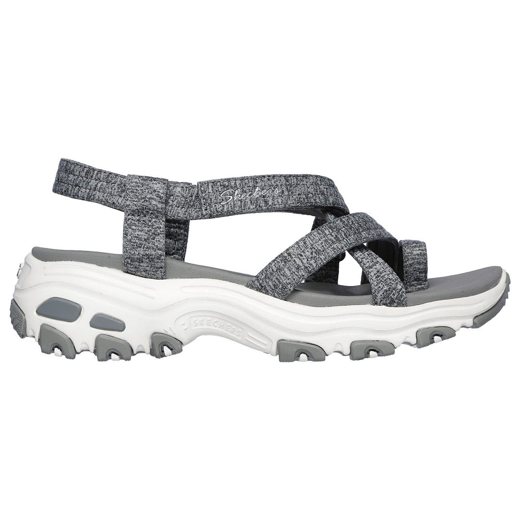 New Women's Sandals Skechers D'Lites WAY2GO Yoga Foam Grey - brand-new-original Shoes & Caps